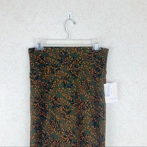 Lularoe leaf print Cassie skirt